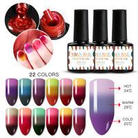 7ML RBAN NAIL 3Colors UV Gel Temperature Color Change Nail Polish Varnish Decor