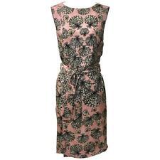 New Emilio Pucci Pink Silk Shell Seashell Print Belted Sleeveless Dress IT 38 2