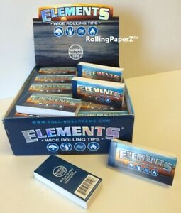 ELEMENTS 20 Packs 50 Tips per Pack = 1000  WIDE ROLLING TIPS - FREE SHIPPING USA