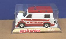 Majorette 3021 1:36 Ambulance MIB 1982 France White Red 1980 Ford