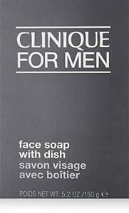 CLINIQUE for MEN Face Soap with Dish All Skin Types Bar 5.2oz 150g NIB