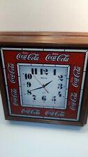 Vintage Hanover Coca Cola Wall Clock Large 14 x 14 Tested 1990's coke Quartz