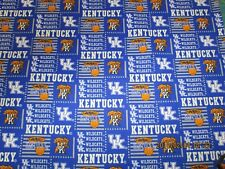 UNIVERSITYof KENTUCKY WILDCATS BRAND NEW SQUARE DESIGN 100% COTTON 1/2 YD PIECE
