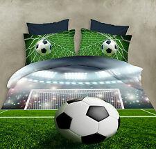 3D Soccer Ball Duvet Cover Football Quilt Covers Bedding Sheets Pillow Cases