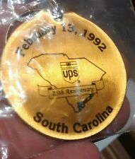 1992 UPS United Parcel Service South Carolina District Key Chain Ring