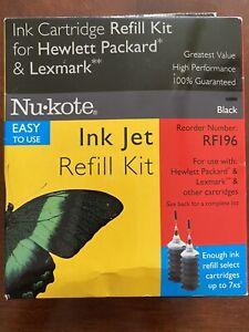 NU•KOTE INK JET REFILL KIT RF196 HEWLETT PACKARD LEXMARK - BLACK - Sealed!
