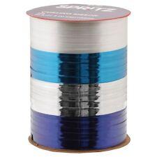 Christmas Gift Ribbon Spritz Curl Ribbon - 4 End X 70 Ft Blue Silver White
