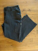 Women's Duluth Trading Co Stretchy Brown Cotton/ Nylon Pants Wide Leg Size 12×29