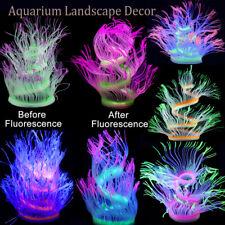 Coral Artificial Plant Fake Sea Anemone Fluorescent Aquarium Landscape Decor