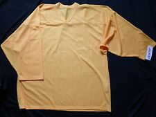 NWT CCM Hockey Practice Jersey, Mens XL, Yellow, 3-qtr Sleeve