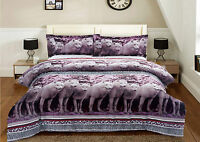 3 Piece Set 3D Snow Mountain Wolves Print Comforter King Set with 2 Shams King