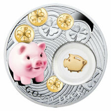 Niue 2014 1$ Piggy Symbols of Luck 1/2 Oz Proof Silver Coin