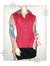 Ein- Super High Bluse Fantasie Gedruckt Rot Patchwork Save The Königin T M
