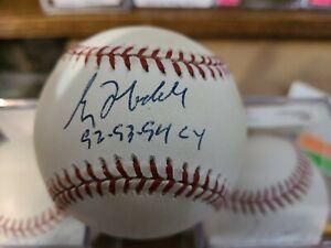 Greg Maddux autographed baseball w/Cy Inscription