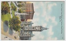 Vintage Postcard Butler PA COUNTY COURT HOUSE & NATIONAL BANK BUILDING ~ Used