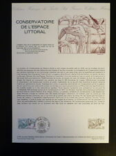 FRANCE MUSEE POSTAL FDC 27-81  CONSERVATOIRE DU LITTORAL  1,60F  ROCHEFORT  1981