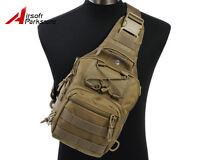 Molle Tactical Chest Bag Assault Bag Pack Messenger Shoulder Sling Backpack Tan