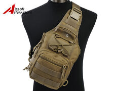 1000D Molle Tactical Utility 3 Ways Shoulder Bag Pouch Backpack - Tan