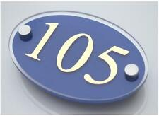 Door Number Sign House Address Plaque Flat or Apartment Plaques/plate Oval