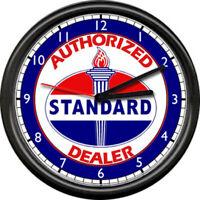 Standard Gas Service Station Pump Retro Vintage Gasoline Sign Wall Clock