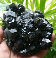 F2461 Wow!Cubic Cumulate Melanite Garnet/ Andradite Crystal Specimen 1194g