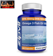 Omega 3, 360 Softgel Perle da 1000 mg. - Olio di Pesce Fish Oil + Vitamina E