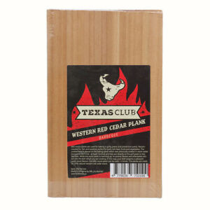 2x Natural Cedar Wood Grilling Planks BBQ Boards 25cm x 15cm x 1cm -Texas Club