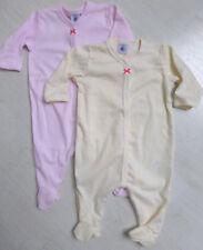 Strampler/Overall/Schlafanzug, rosa/weiß oder gelb/weiß, von Petit Bateau. NEU!