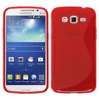 Housse Etui Coque Silicone ROUGE Samsung Galaxy Grand 2 G7100 G7102 G7105 G7106
