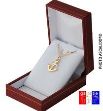 collier ras de cou 40cm avec pendentif ancre encre en vrai plaqué or neuf