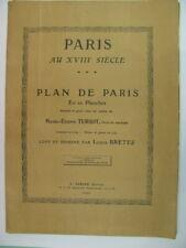 Rare - TURGOT Paris au XVIIIe siecle PLAN DE PARIS en 20 Planches léger incident