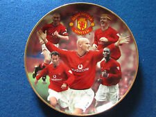 Danbury Mint Plate - Manchester United - Premiership Kings - 22 Carat Gold Rim