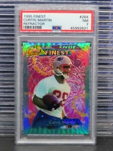 1995 Finest Curtis Martin Refractor Rookie Card RC #264 PSA 7 Patriots G17