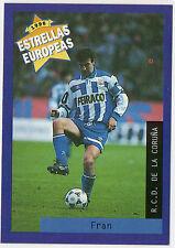Panini 1996 Estrellas Europeas Spanish Issue Card Fran R.C.D. De La Coruna