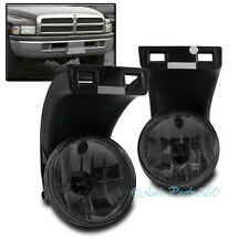 94-01 DODGE RAM 1500 2500 3500 PICKUP TRUCK BUMPER FOG LIGHTS SMOKE 97 98 99 00