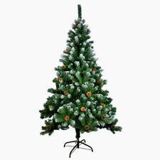 New 7FT 213cm Snow Tipped & Cone Green Artificial Christmas Tree 800 Tips Xmas
