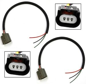 Extension Wire Pigtail Female Ceramic 9008 H13 Head Light Harness Bulb Wiring