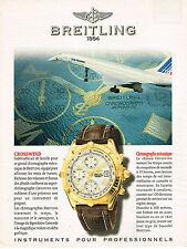 PUBLICITE ADVERTISING 045  1997  BREITLING  montre CROSSWIND AIR FRANCE