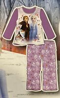 Disney Frozen II 2 - 2-piece Pajama PJ Set - Size 5T NEW - Elsa & Anna -Purple