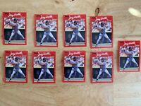 1990 DONRUSS ROOKIES... ALBERT BELLE #390... (1 LOT, 9 CARDS)..