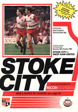 1984/85 Stoke City v West Ham United, Division 1, PERFECT CONDITION