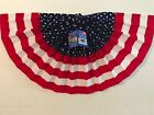 Stars & Stripes Pleated Patriotic Bunting (Qty 3) -18in x 36in