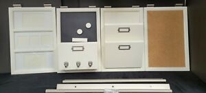 10pc Pottery Barn 4 Sections Daily Organization System White