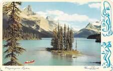 Canada, Alberta, Maligne Lake, boat, mountains, Jasper National Park