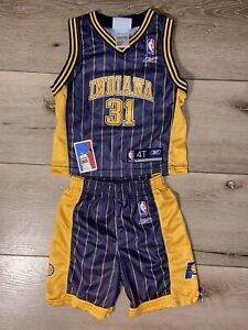 Reggie Miller Pacers Size 4T NBA Toddler Jersey Shorts Set Reebok Vintage Boys