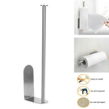 Stainless Steel Vertical Paper Towel Holder Wall Mount Storage Rack Stand Sliver