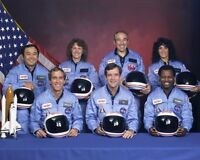 New 8x10 NASA Photo: Final Astronaut Crew of Ill-Fated Space Shuttle Challenger