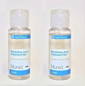 2 x MURAD EXFOLIATING ACNE TREATMENT GEL 1 FL.OZ   ( 2 oz total)
