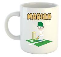 Marian - Cricket Personalizado Taza - Regalo para - Cenizas,Copa Del Mundo,Hobby