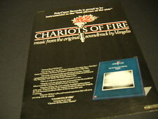 Vangelis Chariots Of Fire .picture of the year 1982 Promo Poster Ad mint cond